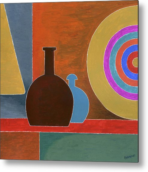 Paintings Metal Print featuring the painting The Experiment by T S Mohamed Ali