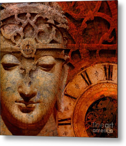 Time Metal Print featuring the digital art The Illusion Of Time by Christopher Beikmann