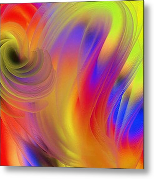 Joy Metal Print featuring the painting The Joyous Mind by Janpen Sherwood