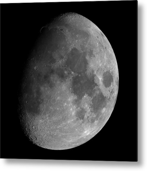 Moon Metal Print featuring the photograph The Largest Moon Photograph Ever Taken From Earth by Bartosz Wojczynski