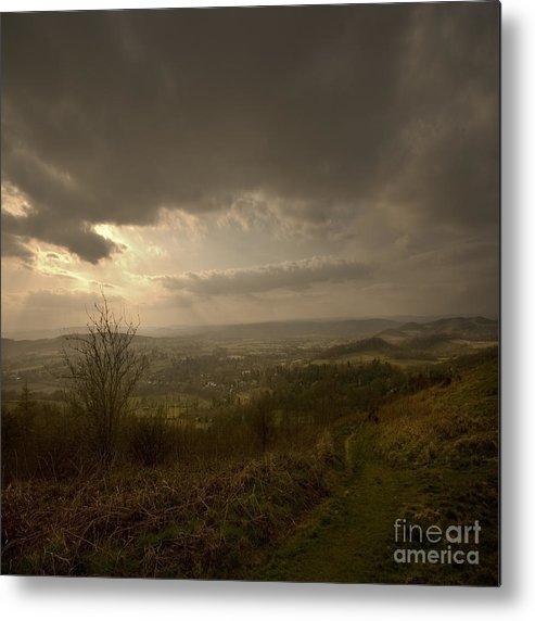 Malvern Metal Print featuring the photograph The Malvern Hills by Angel Ciesniarska
