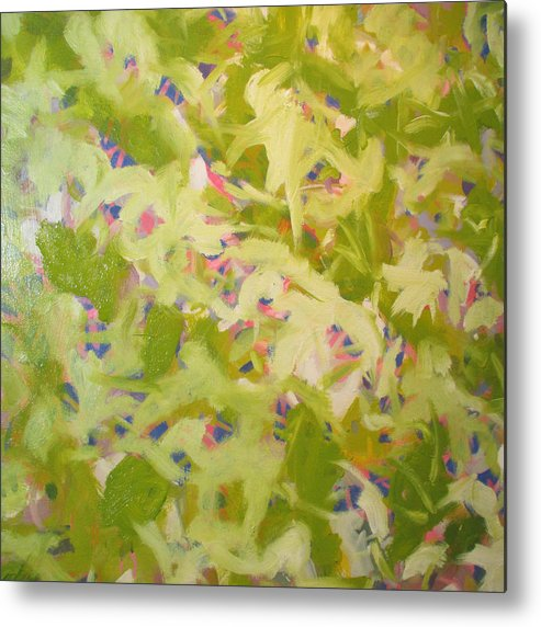 Abstract Metal Print featuring the painting The Quiet by Steven Miller