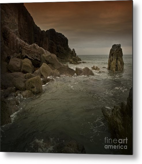 Sea Metal Print featuring the photograph The Sea And The Rocks by Angel Ciesniarska