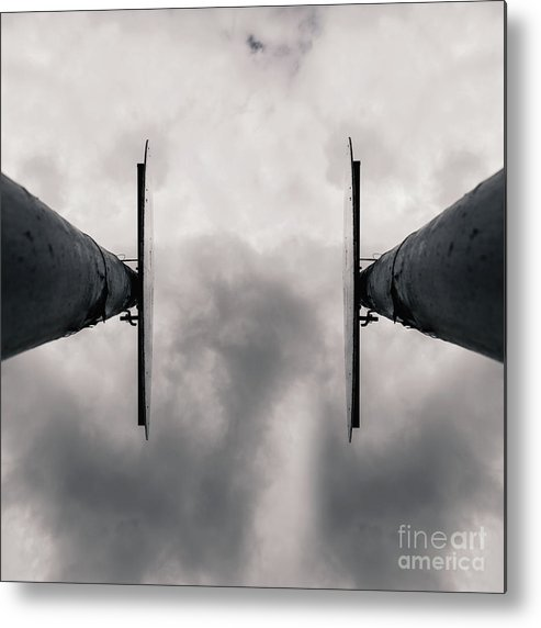 Two Signs Metal Print featuring the photograph The Sign by Benjamin Harte