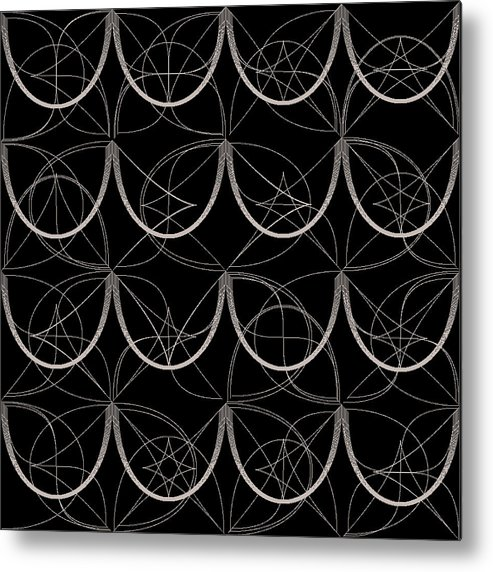 Abstract Metal Print featuring the digital art Tiles.2.277 by Gareth Lewis