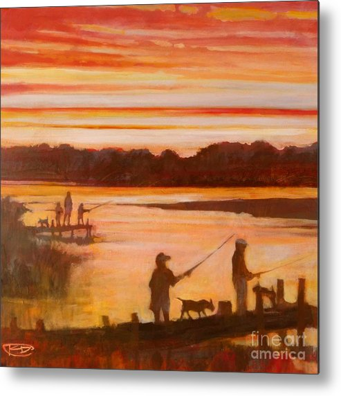 Fishing Metal Print featuring the painting Time To Go Home by Kip Decker