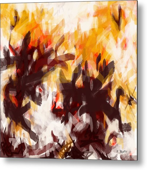 Abstract Metal Print featuring the painting To Be With You Abstract by Karla Beatty