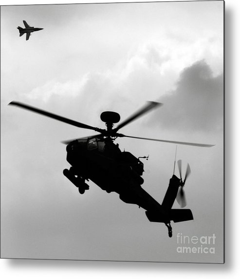Apache Metal Print featuring the photograph Tornado F3 And Apache by Angel Ciesniarska