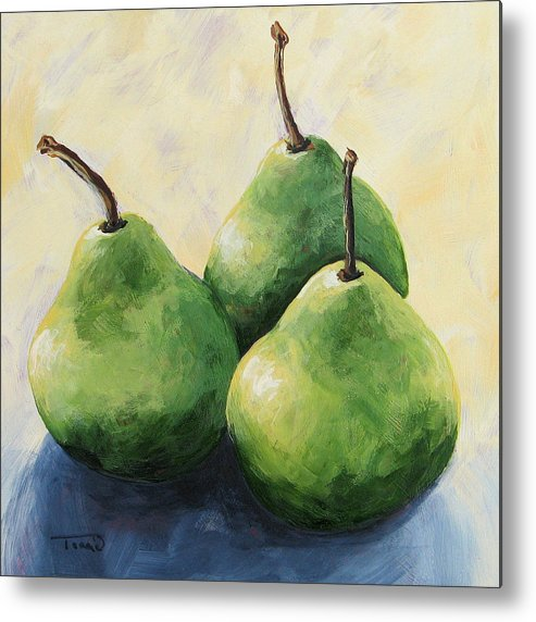 Pear Metal Print featuring the painting Triplets by Torrie Smiley