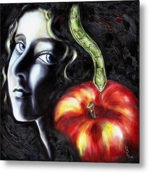 Adam And Eve Metal Print featuring the painting Trouble Makers by Hiroko Sakai