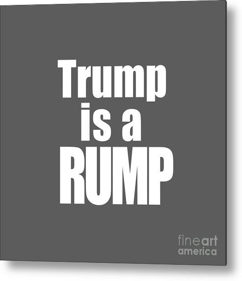 Trump Metal Print featuring the photograph Trump Is A Rump Tee by Edward Fielding