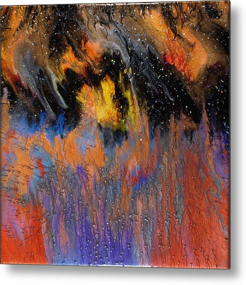 Abstract Metal Print featuring the painting Twilight Wonder by Paul Tokarski