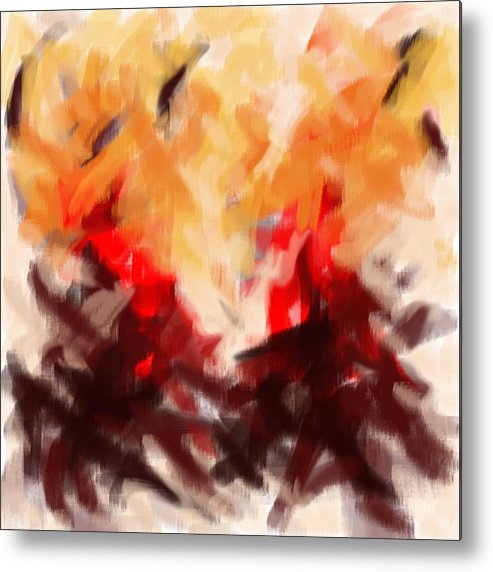Abstract Metal Print featuring the painting Two To Tango Abstract by Karla Beatty