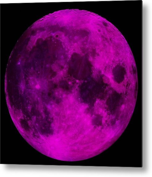 30f1051a25 Moon Metal Print featuring the photograph Ultraviolet Moon by Mark  Blauhoefer