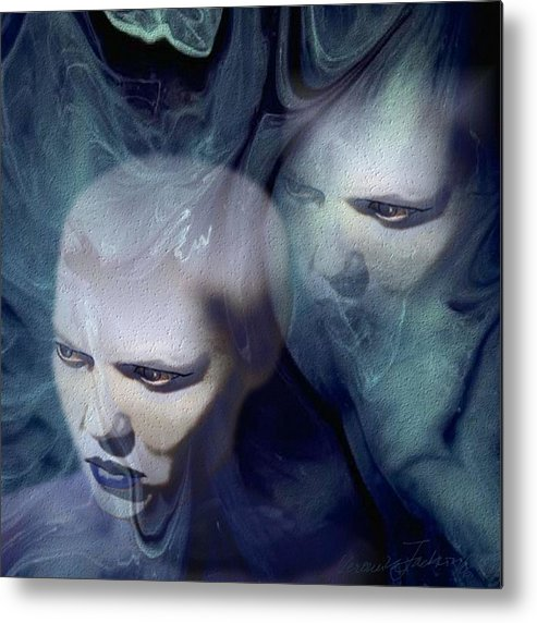 Dream Afterlife Experience Blue Smoke Metal Print featuring the digital art Untitled by Veronica Jackson