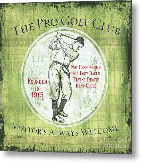 Golf Metal Print featuring the painting Vintage Golf Green 2 by Debbie DeWitt