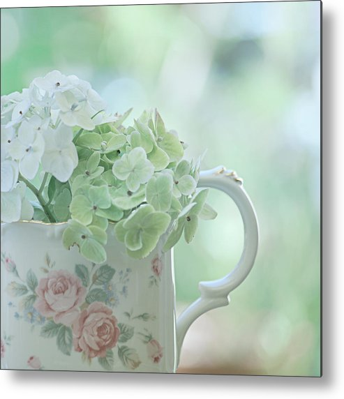 Vintage Porcelain Metal Print featuring the photograph Vintage Pitcher by Bonnie Bruno