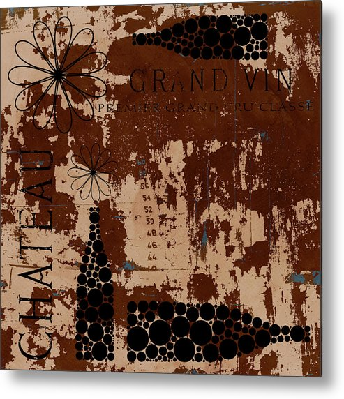 Frank Tschakert Metal Print featuring the painting Vintage Wine by Frank Tschakert