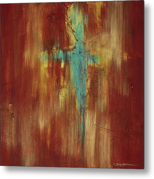 Abstract Metal Print featuring the painting Vision Quest by Tara Moorman