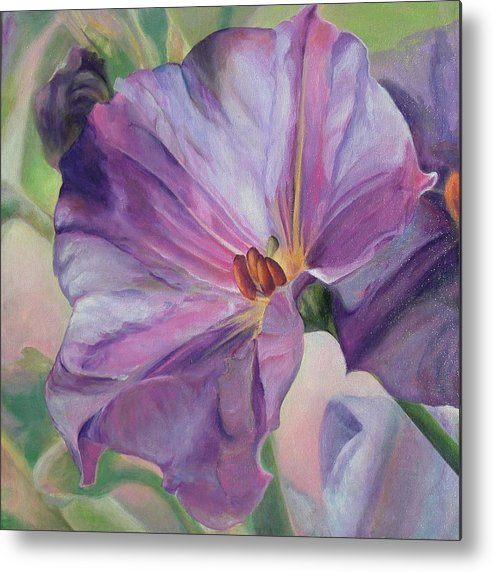 Floral Painting Metal Print featuring the painting Volubilis by Muriel Dolemieux
