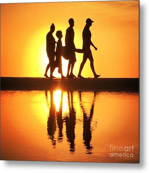 Beach Metal Print featuring the photograph Walking On Sunshine by LeeAnn Kendall