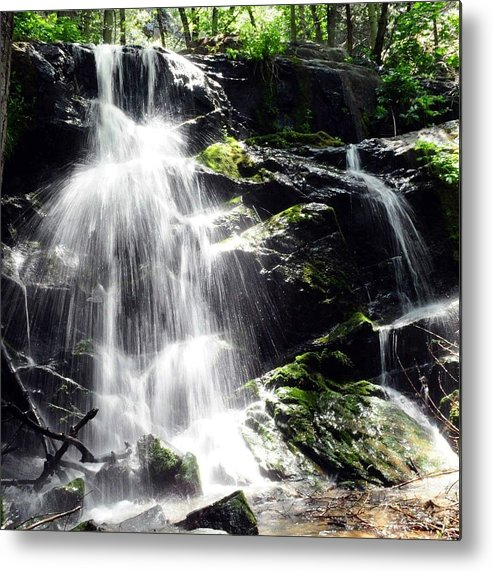 Landscape Metal Print featuring the photograph Waterfall by Heather Isquith