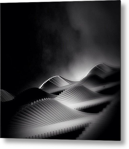 Rptw4ofblack Metal Print featuring the photograph Waves Of Steel - Concrete Jungle by Robbert Ter Weijden