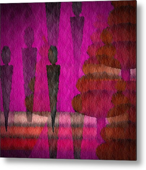 Man Metal Print featuring the digital art We Stand In The Shadows by Terry Mulligan