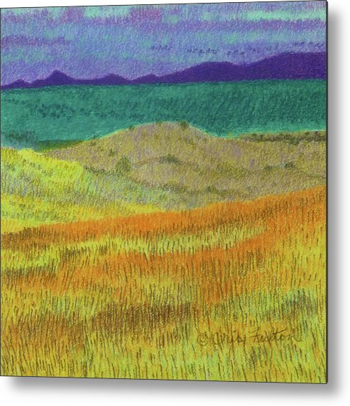 North Dakota Metal Print featuring the painting Western Edge Prairie Dream by Cris Fulton