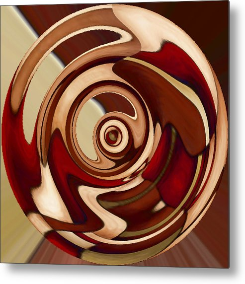 Red Metal Print featuring the painting Wheel 4 by Vicky Brago-Mitchell