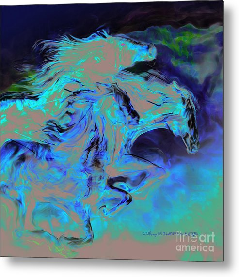 Horse Metal Print featuring the mixed media Wild Things by Mike Massengale