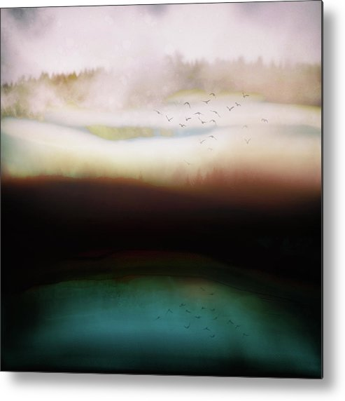 Abstract Metal Print featuring the digital art Winters Day by Katherine Smit