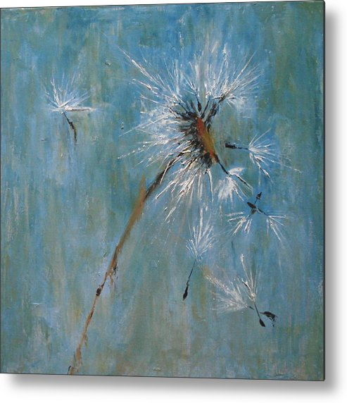 Landscape Metal Print featuring the painting Wishes by Barbara Andolsek