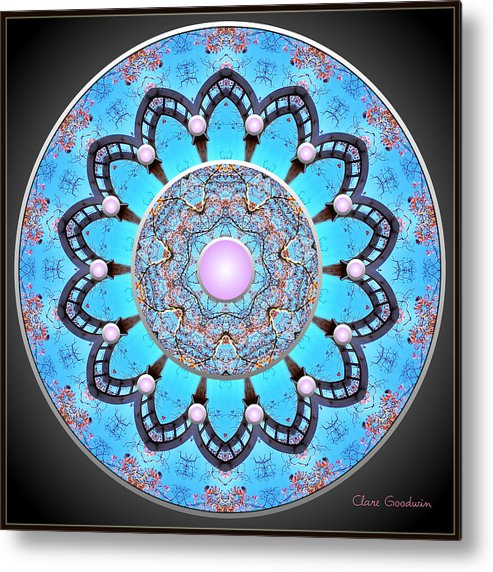 Mandala Metal Print featuring the digital art With Every Breath by Clare Goodwin