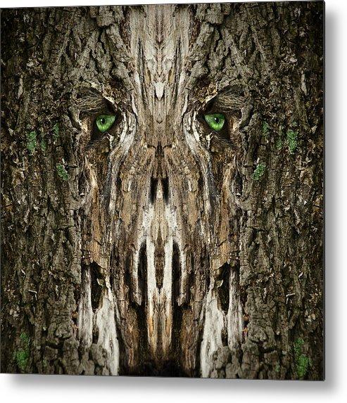 Wood Metal Print featuring the digital art Woody 99 by Rick Mosher
