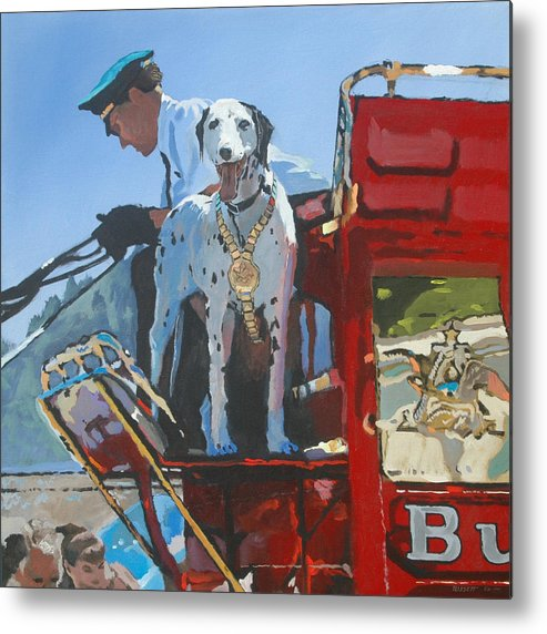 Dog Metal Print featuring the painting Working Dog by Robert Bissett