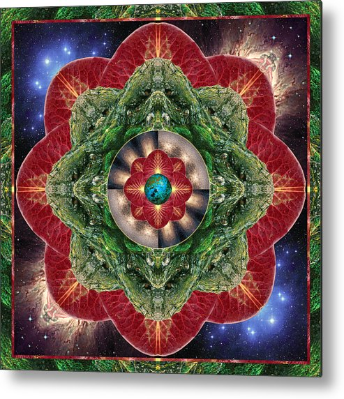 Yoga Metal Print featuring the photograph World-healer by Bell And Todd