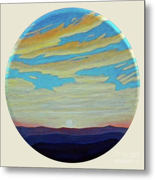 Landscape Metal Print featuring the painting Yesterday by Brian Commerford