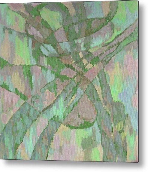 Abstract Metal Print featuring the painting Zardoz 1. by Natalia Piacheva