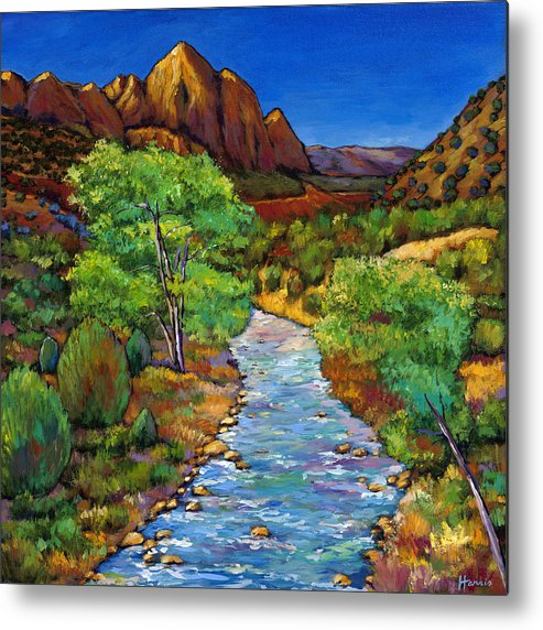 National Parks Metal Print featuring the painting Zion by Johnathan Harris