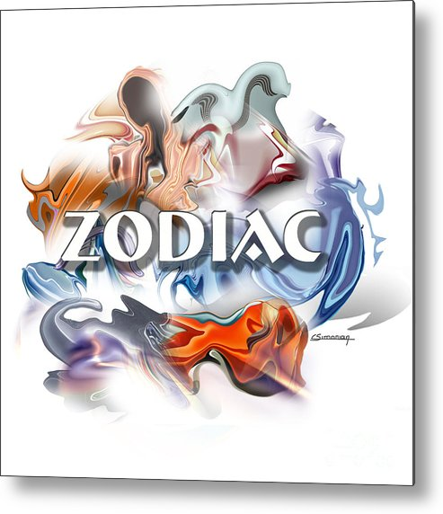 Astrology Metal Print featuring the painting Zodiac Cover by Christian Simonian
