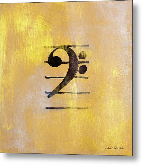 Bass Metal Print featuring the painting Bass Clef by Lanie Loreth