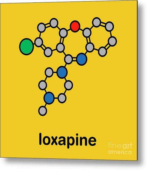 Loxapine Metal Print featuring the photograph Loxapine Antipsychotic Drug by Molekuul/science Photo Library