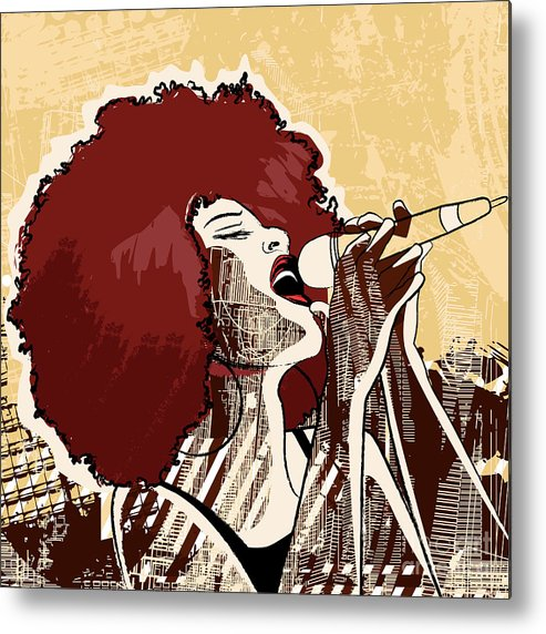 Voice Metal Print featuring the digital art Vector Illustration Of An Afro American by Isaxar