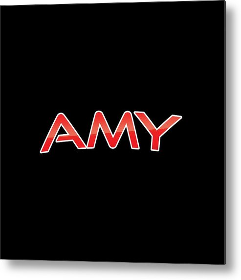 Amy Metal Print featuring the digital art Amy by TintoDesigns