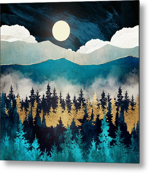 Mist Metal Print featuring the digital art Evening Mist by Spacefrog Designs