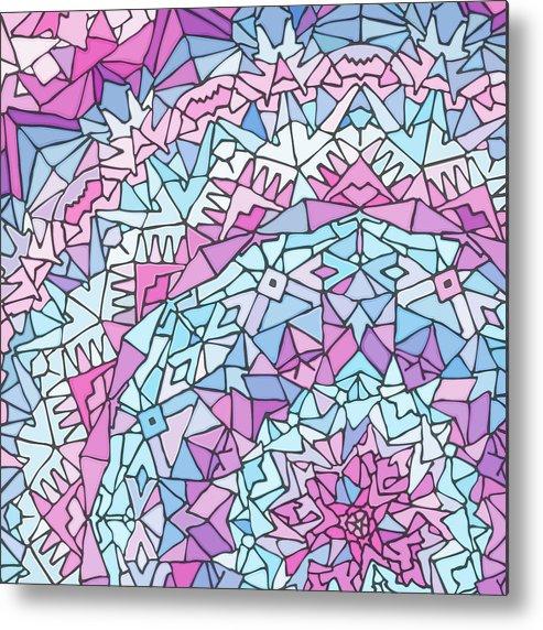 Mandala Metal Print featuring the digital art Comfortably Cosmic, In Lavendar by James Fryer