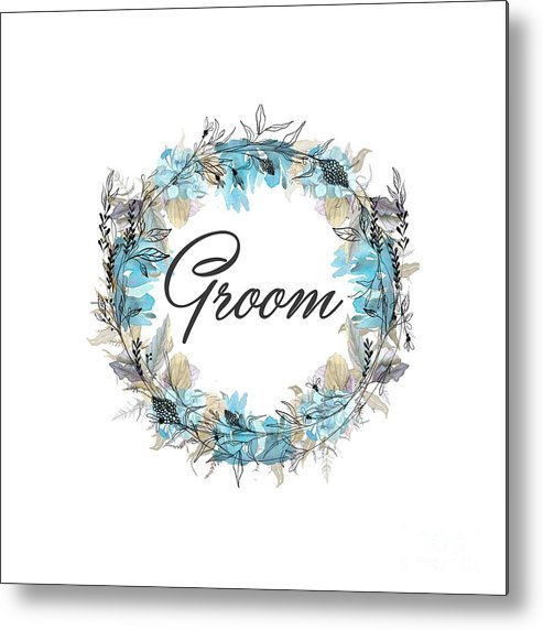 Groom Metal Print featuring the mixed media Groom by Mo T