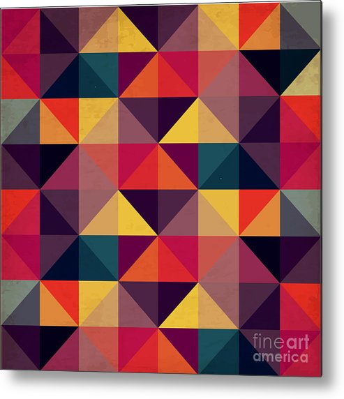 Symbol Metal Print featuring the digital art Grunge Colorful Seamless Pattern With by Artgraphixel