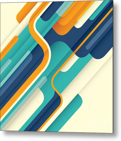 Template Metal Print featuring the digital art Modern Abstract Illustration In Color by Radoman Durkovic
